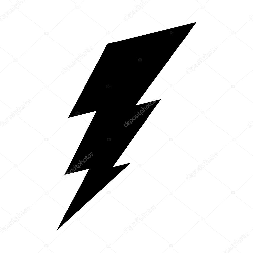 lightning bolt vector icon stock vector briangoff 100813572 rh depositphotos com vector lightning bolt png vector lightning bolt logo