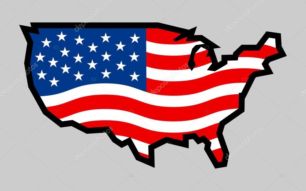 Vector Bandera De País De Estados Unidos De América Usa