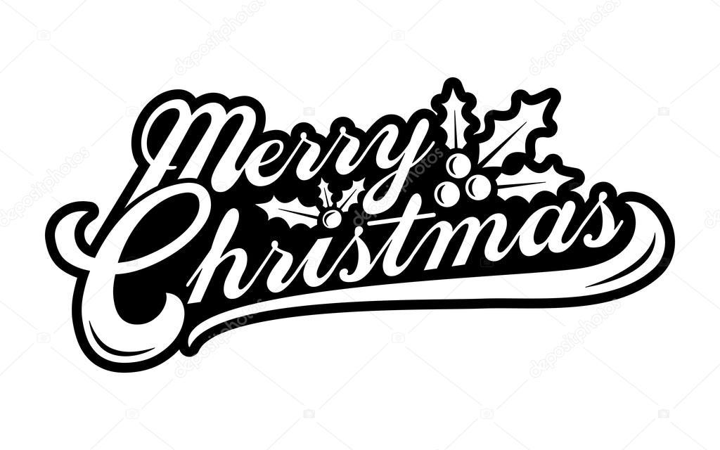 Schriftart Weihnachten.Frohe Weihnachten Text Schriftart Vektorgrafik Stockvektor