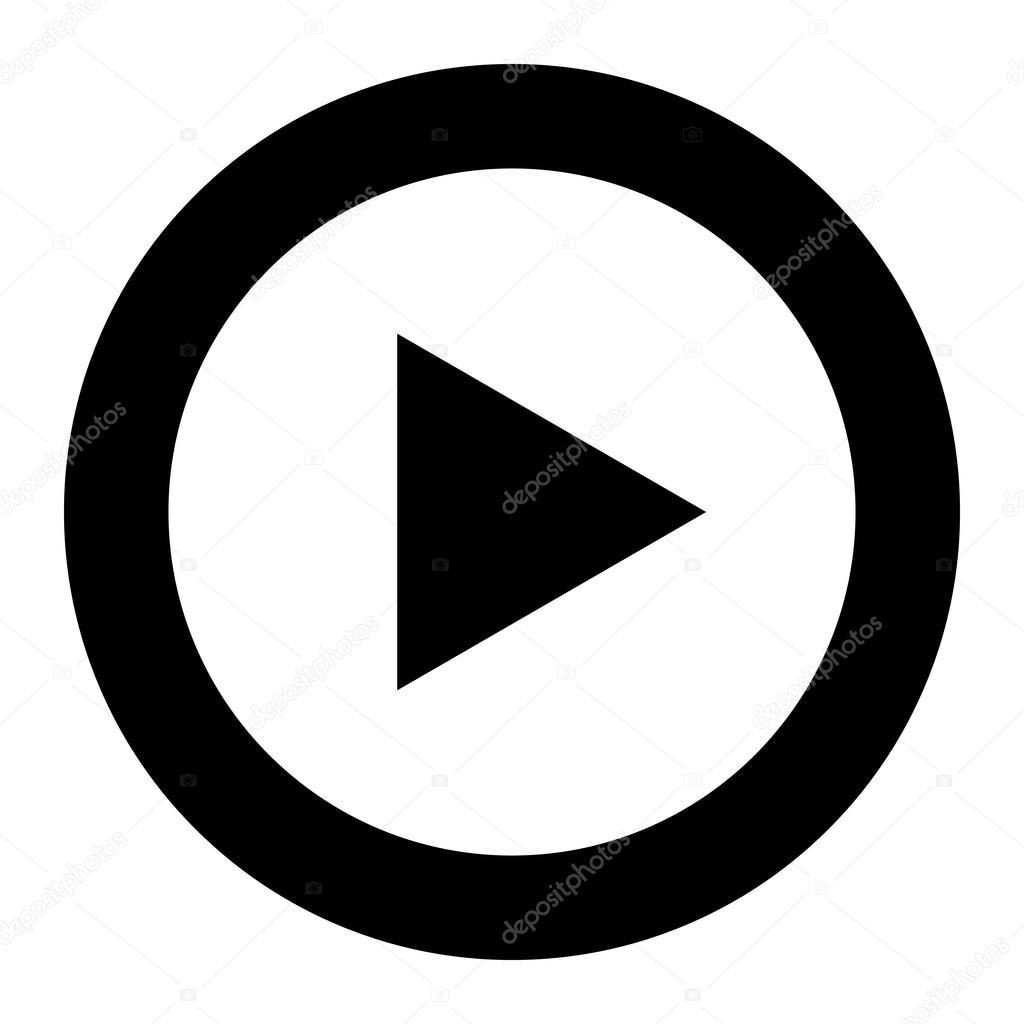 40a14f61f3 Icone di vettore di simbolo play — Vettoriali Stock © briangoff ...