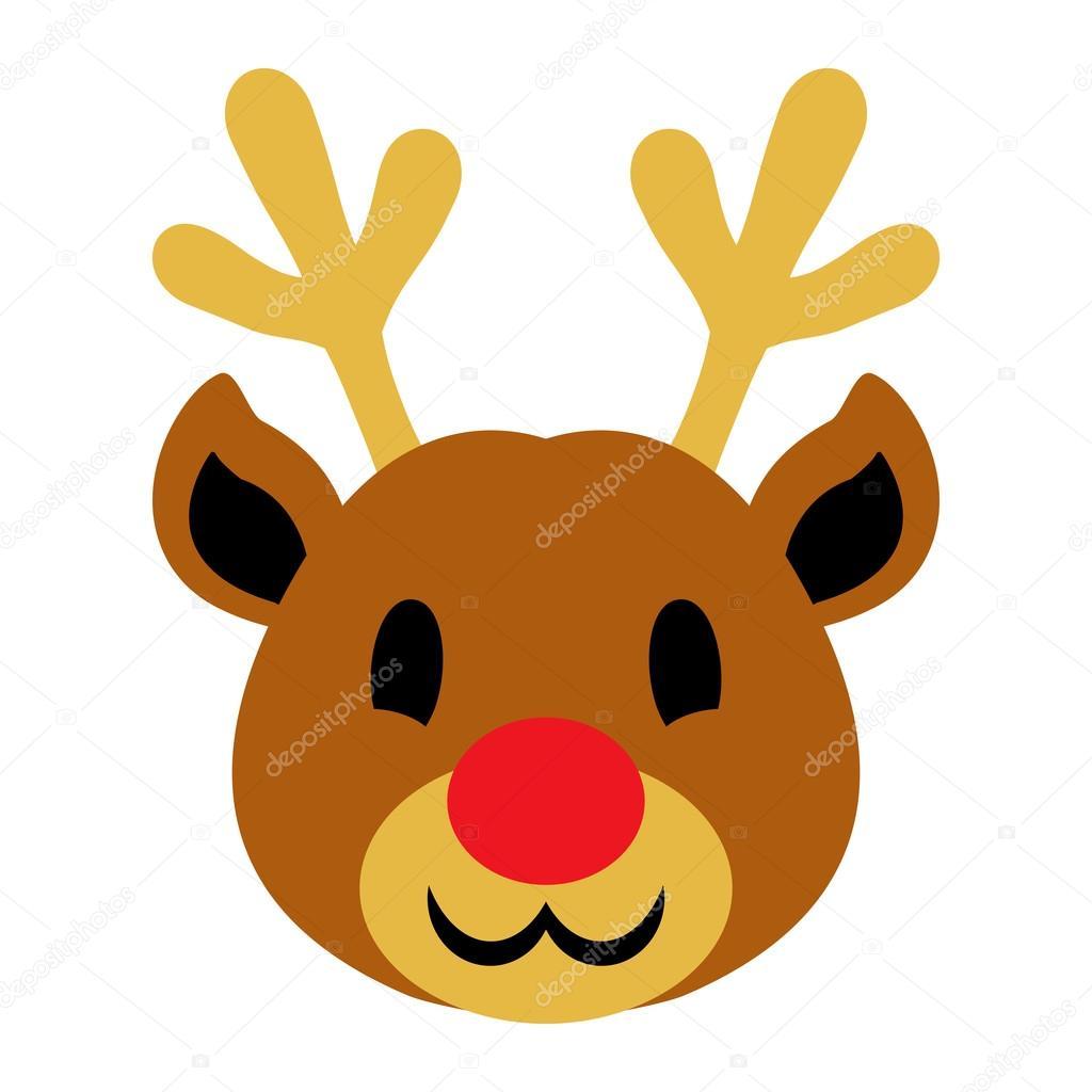 christmas reindeer vector cartoon icon u2014 stock vector briangoff