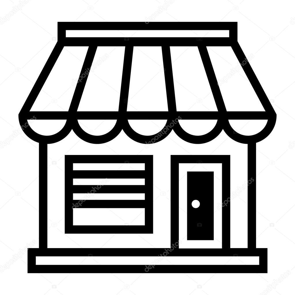 business store front shop vector icon stock vector briangoff rh depositphotos com shop victorian shop victoria secret retro