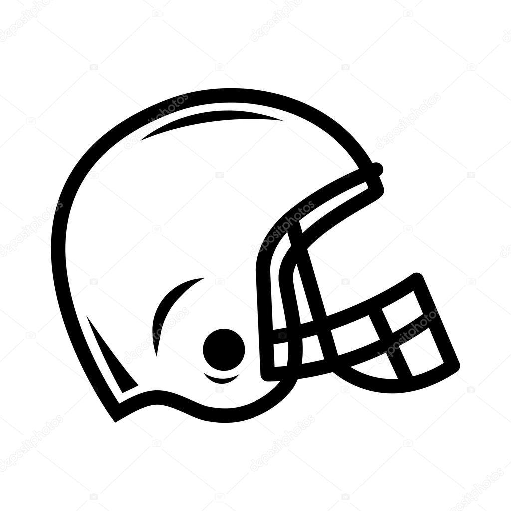 football helmet vector icon stock vector briangoff 99826488 rh depositphotos com