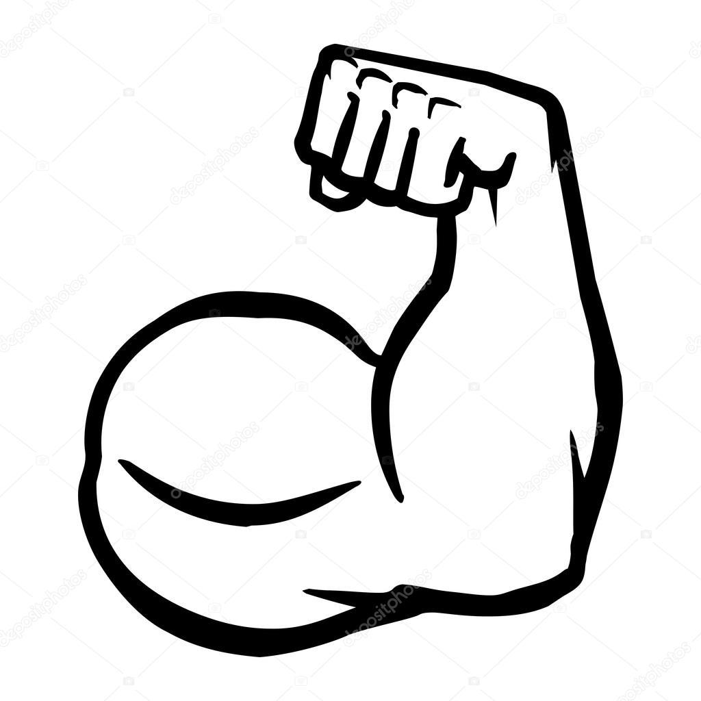 biceps flex rami u0119 wektor ikona grafika wektorowa  u00a9 briangoff 99827392 muscles clip art black and white muscle clip art images