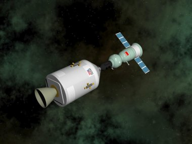 Apollo-Soyuz test project - 3D render