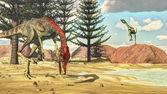 Fotografia Compsognathus dinosauri - 3d rendono