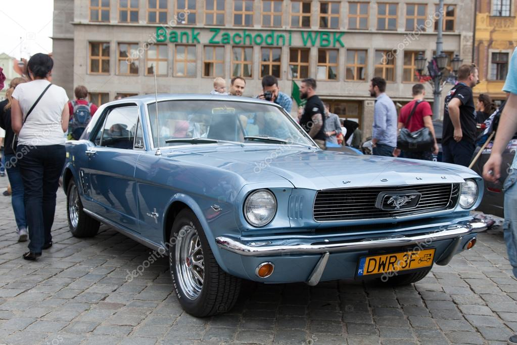 Mustang Race start in Wroclaw, Poland