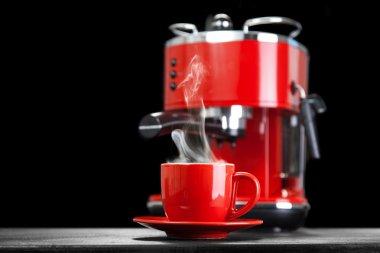 Red coffee machine