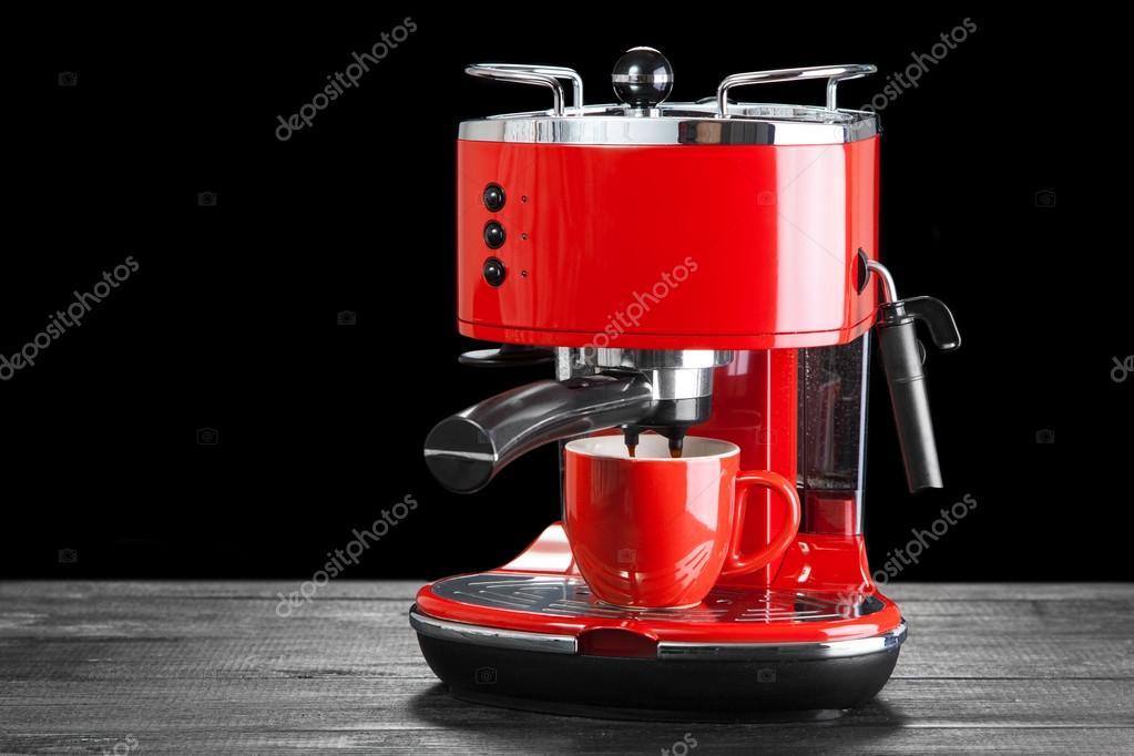 Red Coffee Machine Stock Photo Gdolgikh 79981170