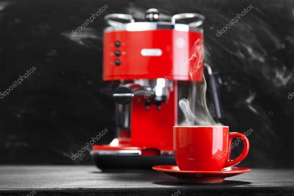 Red Coffee Machine Stock Photo Gdolgikh 79981362