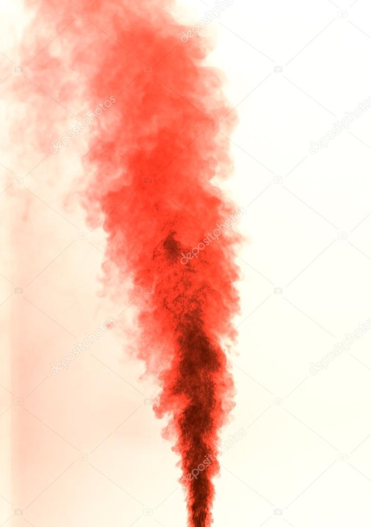 Fotografie Bianco Rosso Fumo Su Sfondo Bianco Rosso Foto Stock