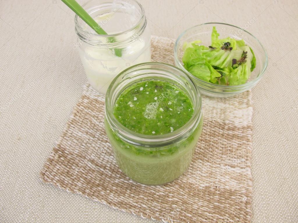 groene smoothie met yoghurt