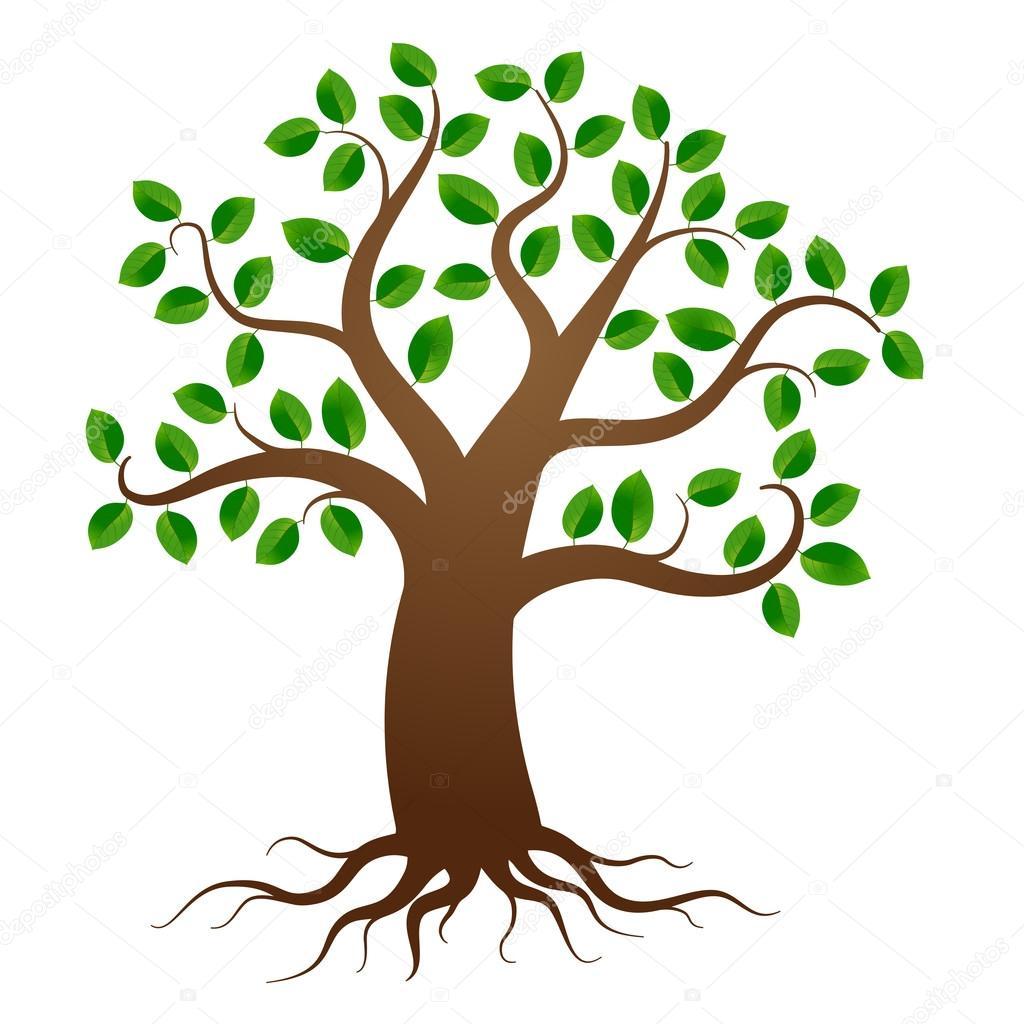 vector arbol con raices Árbol vector de raíces vector de stock