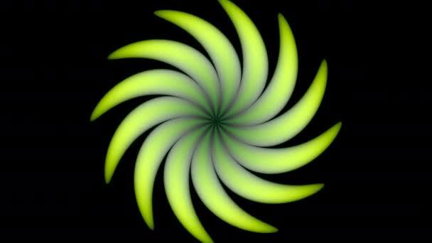 Virágos szél fúj elvont Twist Spirál