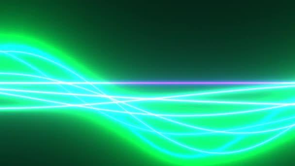 Különböző színek a fénysugarak sodrott fonat áramló át keret