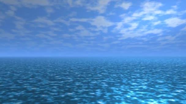 Klidný oceán Povrch moře Klidná obloha Render