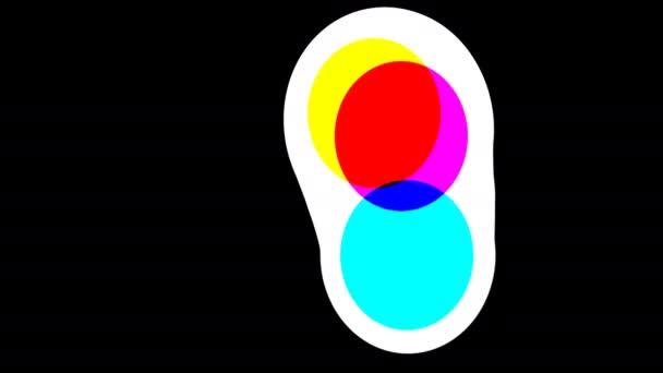Tvar vejce v barvách Cmyk Sloučení kruhů