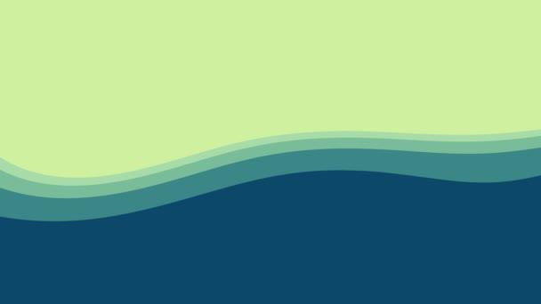 Měkké mytí proudící vlny Uvolněný tok