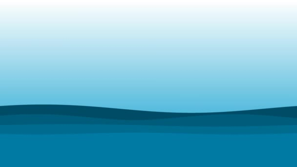 Absztrakt Cartoon Sea Ocean Water Surface