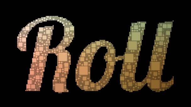 Roll On Pixeltext Morphing Looping Boxes mit Glitch-Effekt