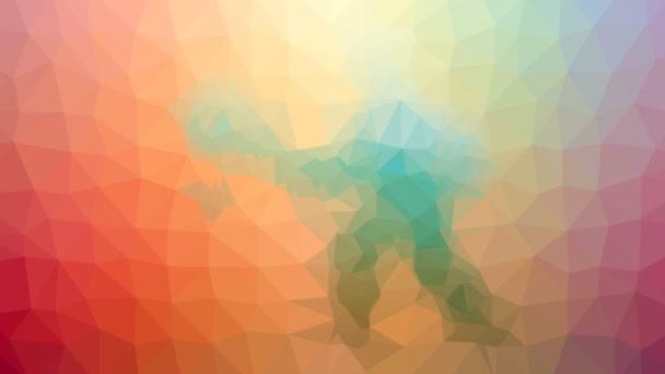 tenis rozpouštění podivné tessellated smyčka pohybující se mnohoúhelníky