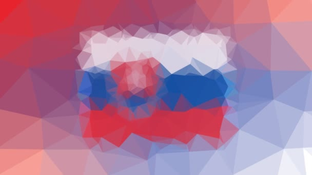 Slovensko Vlajka ISO: SK slábne technologické tessellated looping pulsing polygons