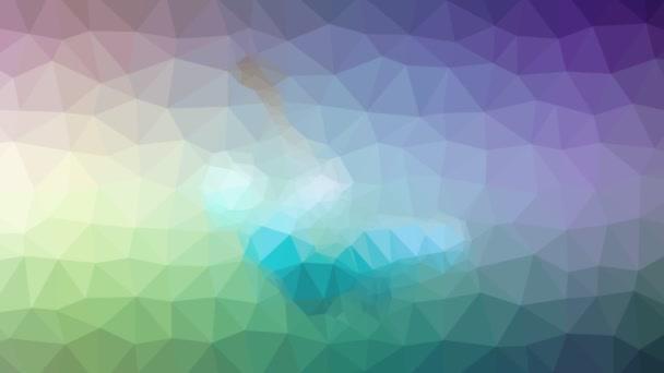 Schaukel Spielplatz Auflösung Techno tessellating Looping animierte Polygone
