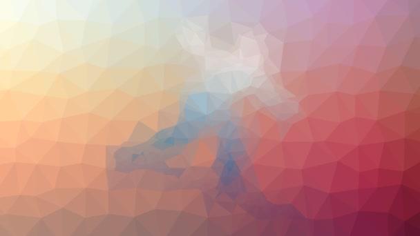 surfování rozpouštění techno tessellation smyčka pohybující se trojúhelníky