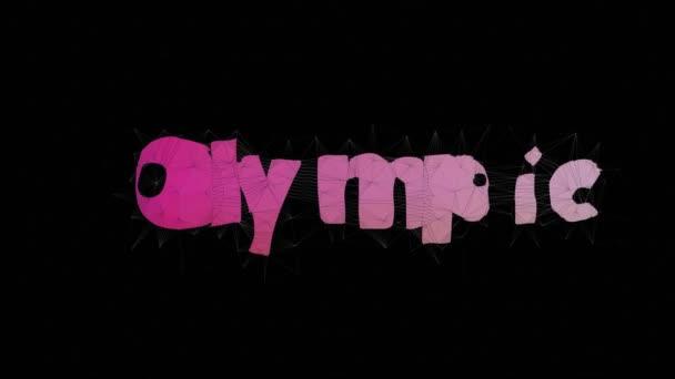 Olimpiai játékok Szöveges morfium Tessellation Looping Grid Text Morph