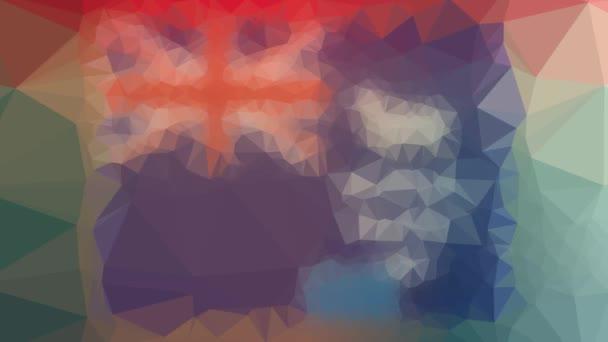 Falkland-szigetek (Malvinas) lobogó ISO: FK, amely technológiai tessellation looping mozgó sokszögek megjelenésével jár