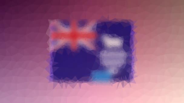 Falkland-szigetek (Malvinák) ISO lobogó: FK-oldó techno-tessellált pulzáló poligonok