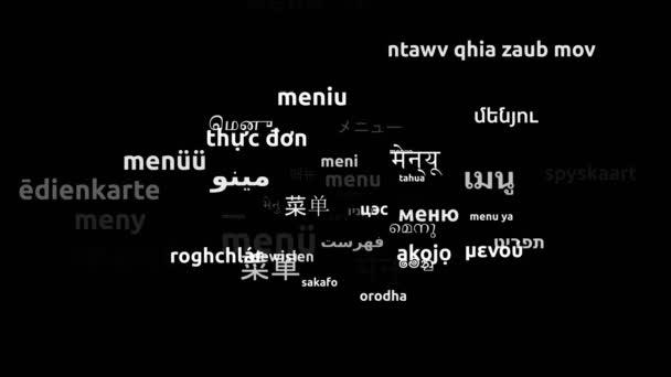 Menü Translated in 50 Világszerte Nyelvek Végtelen hurkolás 3D-s zoomolás Wordcloud maszk