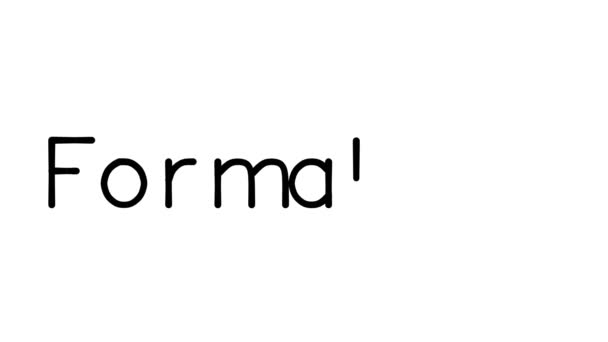 Formalism Handwritten Text Animation in Various Sans-Serif Fonts and Weights