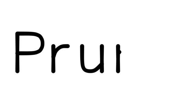 Szilva kézzel írott szöveg animáció különböző Sans-Serif betűtípusok és súlyok