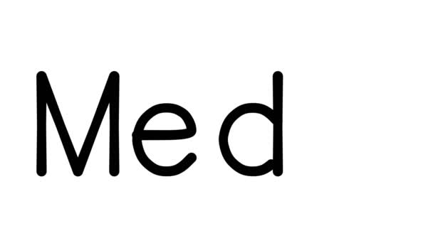 Medal Handwritten Text Animation in Various Sans-Serif Fonts and Weights
