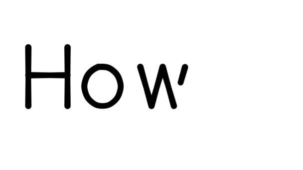 Hogyan kézzel írott szöveg animáció különböző Sans-Serif betűtípusok és súlyok