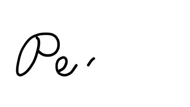 Penis-dekorative Handschrift-Animation in sechs kursiven und gotischen Schriften