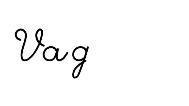 Vagina dekorative Handschrift-Animation in sechs kursiven und gotischen Schriften