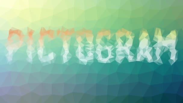 Piktogram rozpouštění technologických tessellačních pohyblivých mnohoúhelníků
