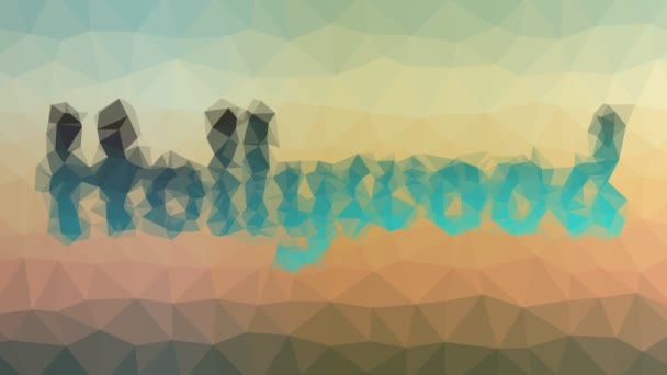 Hollywood löst techno tessellating looping moving triangelles auf