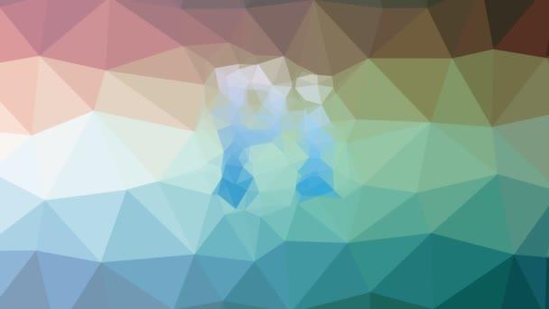 Pi löst techno tessellating looping bewegliche Polygone auf