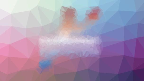 kajak slábne podivné tessellated smyčka animované trojúhelníky