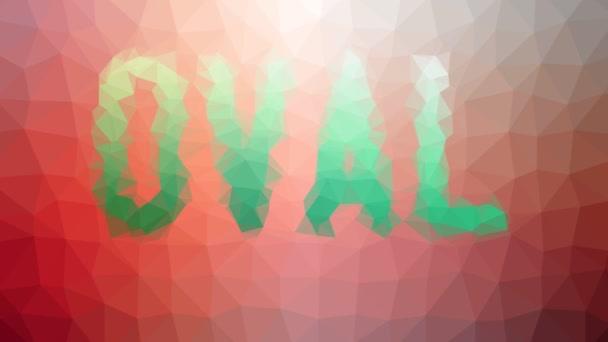 Oval anmutende seltsame tessellation looping pulsierende Dreiecke