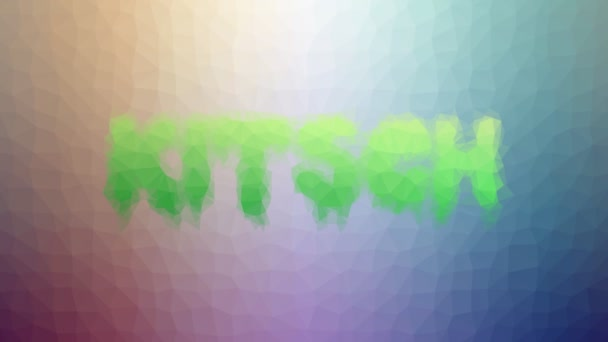 Kitsch löst seltsame Tessellated Looping Moving Dreiecke auf