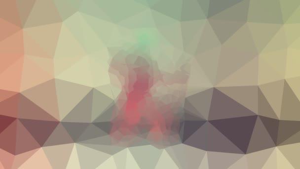 Wegweiser verblassen technologische Tessellation Schleife animierte Polygone