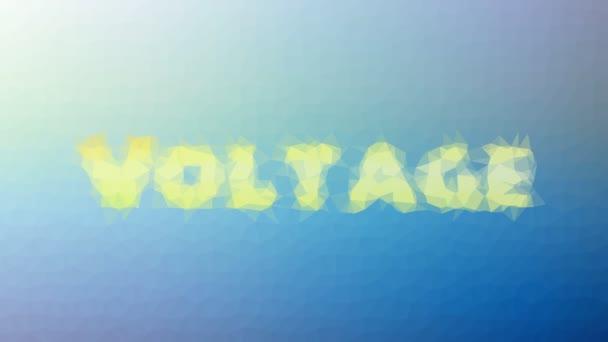 Voltage Fade Seltsame Tessellating Looping Animierte Polygone