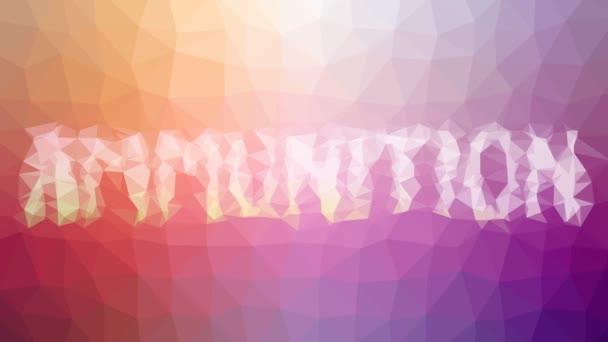 Munition verblasst seltsam tessellated looping pulsierende Dreiecke