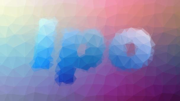 Ipo Auflösung von Techno Tessellating Looping Pulsing Triangles