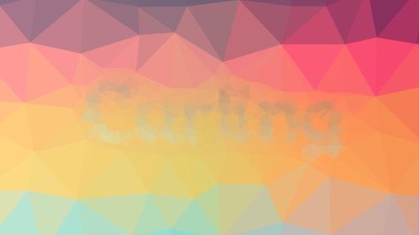 Curling löst Techno-Tessellation auf, die animierte Dreiecke schleift