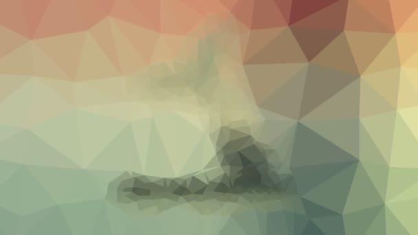 pozorování velryb objevující se moderní tessellation smyčka pohybující se mnohoúhelníky